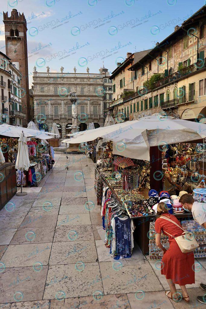 Verona – market in Piazza Erbe